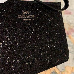 Coach Bags - Coach NWT star glitter -sparkle wristlet black